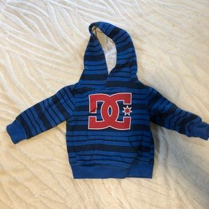Blue DC sweatshirt hoodie size 12 months
